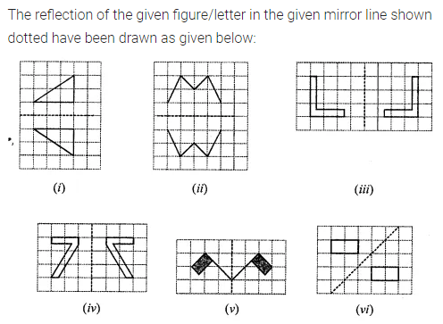 ML Aggarwal Class 7 Solutions for ICSE Maths Chapter 14 Symmetry Ex 14.1 Q6.1