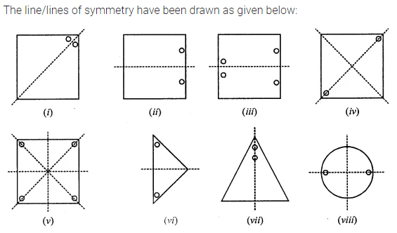 ML Aggarwal Class 7 Solutions for ICSE Maths Chapter 14 Symmetry Ex 14.1 Q2.1