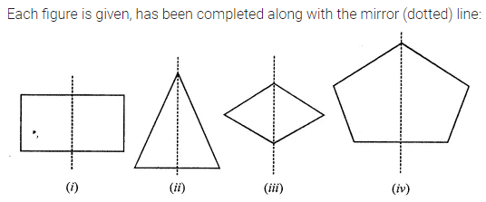 ML Aggarwal Class 7 Solutions for ICSE Maths Chapter 14 Symmetry Ex 14.1 Q4.1