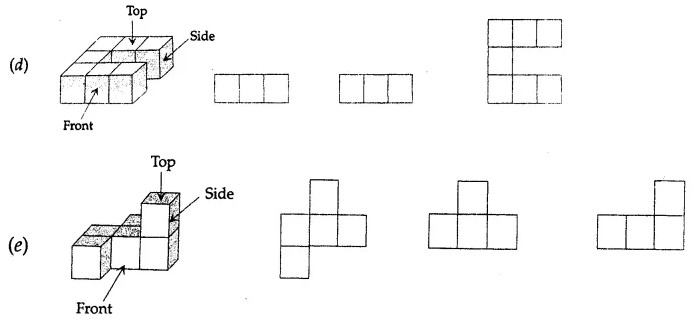 ML Aggarwal Class 7 Solutions for ICSE Maths Chapter 15 Visualising Solid Shapes Ex 15.3 Q3.1