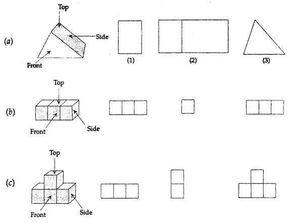 ML Aggarwal Class 7 Solutions for ICSE Maths Chapter 15 Visualising Solid Shapes Ex 15.3 Q3