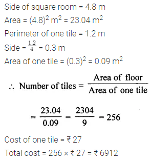 ML Aggarwal Class 7 Solutions for ICSE Maths Chapter 16 Perimeter and Area Ex 16.1 Q15