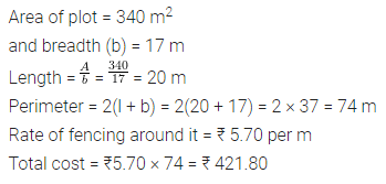ML Aggarwal Class 7 Solutions for ICSE Maths Chapter 16 Perimeter and Area Ex 16.1 Q5