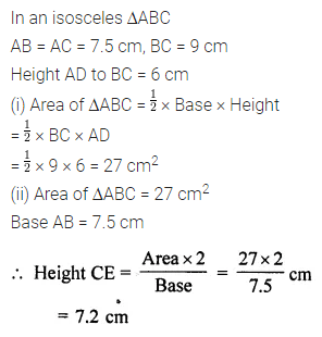 ML Aggarwal Class 7 Solutions for ICSE Maths Chapter 16 Perimeter and Area Ex 16.2 Q6.1