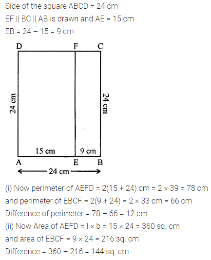 ML Aggarwal Class 7 Solutions for ICSE Maths Chapter 16 Perimeter and Area Ex 16.1 Q1.1