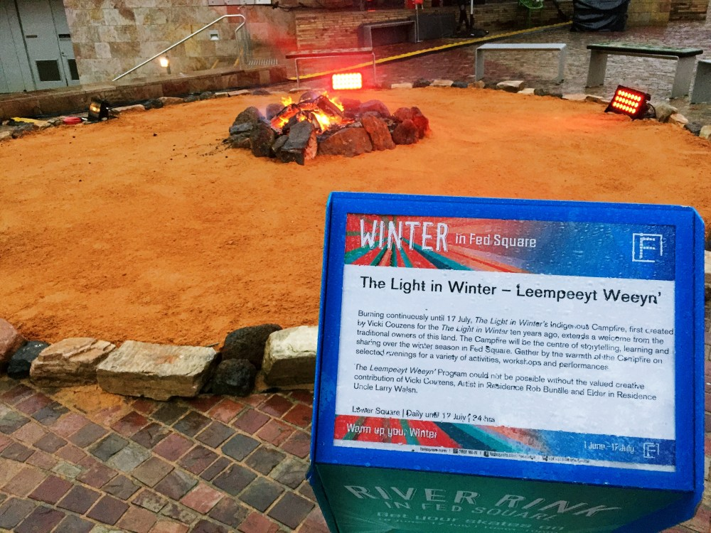 30 June 2016: Winter Camp Fire @ Federation Square | Melbourne CBD, Australia
