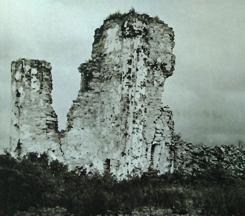 Руины церкви Благовещения до консервации, Рюриково городище, Великий Новгород