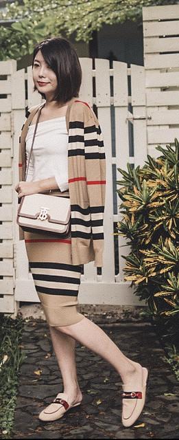 ▌Outfit ▌私房雨露拍好拍滿:Burberry TB Bag + Gucci Princetown + Alexander Wang Fanny Bag