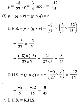 ML Aggarwal Class 8 Solutions for ICSE Maths Chapter 1 Rational Numbers Ex 1.3 Q6
