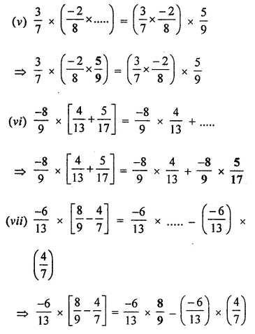 ICSE Class 8 Maths Book Solutions Free Download Pdf Chapter 1 Rational Numbers Ex 1.3 Q7.2