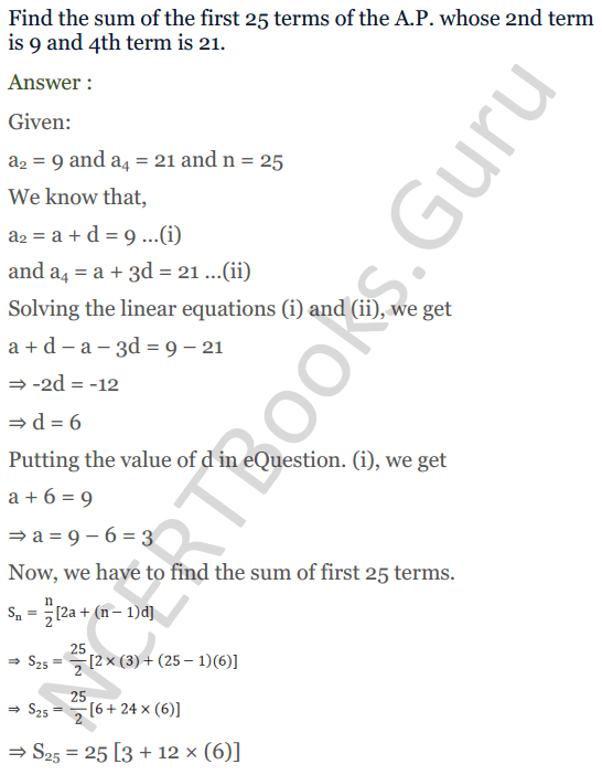 KC Sinha Maths Solution Class 10 Chapter 8 - Arithmetic Progressions (AP) - 158