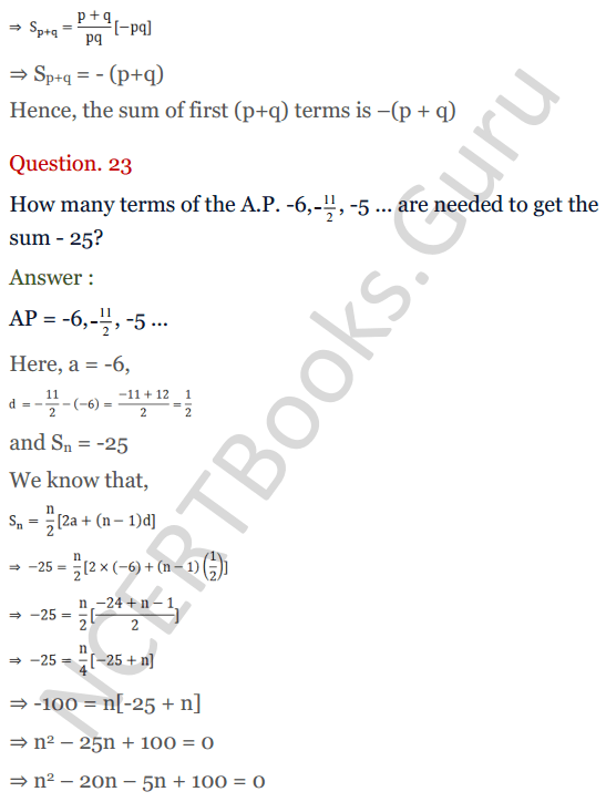 KC Sinha Maths Solution Class 10 Chapter 8 - Arithmetic Progressions (AP) - 144