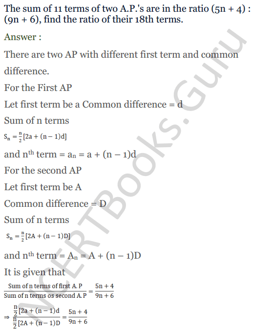 KC Sinha Maths Solution Class 10 Chapter 8 - Arithmetic Progressions (AP) - 176