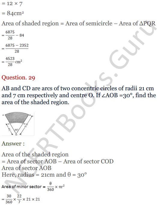 KC Sinha Maths Solutions Class 10 Chapter 13.Areas Related to circles - Ex 13 - 35