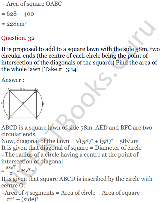 KC Sinha Maths Solutions Class 10 Chapter 13.Areas Related to circles - Ex 13 - 40