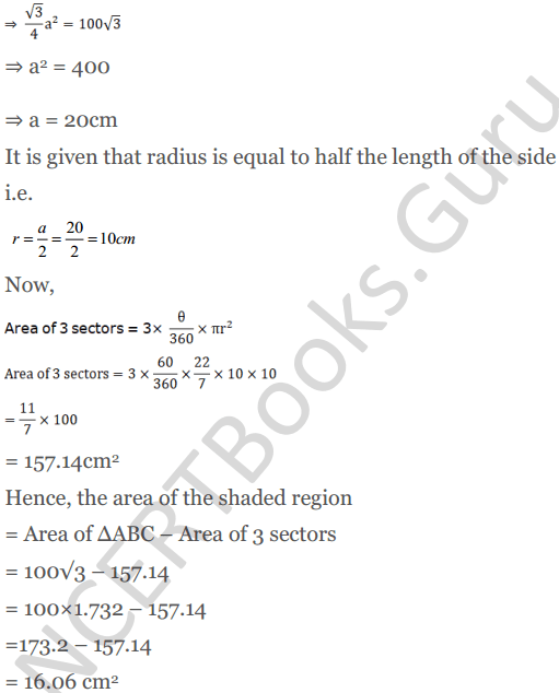 KC Sinha Maths Solutions Class 10 Chapter 13.Areas Related to circles - Ex 13 - 45