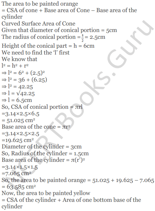 KC Sinha Maths Solutions Class 10 Chapter 14. Surface Areas and volumes - Ex 14.2 - 21