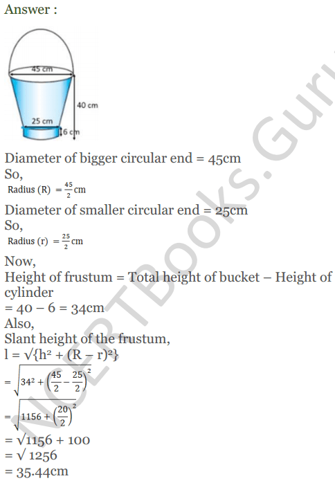 KC Sinha Maths Solutions Class 10 Chapter 14. Surface Areas and volumes - Ex 14.4 - 10