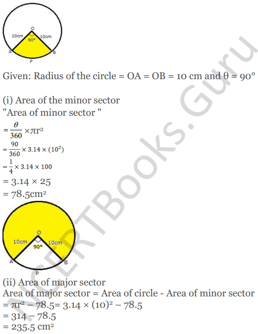 KC Sinha Maths Solutions Class 10 Chapter 13.Areas Related to circles - Ex 13 - 23