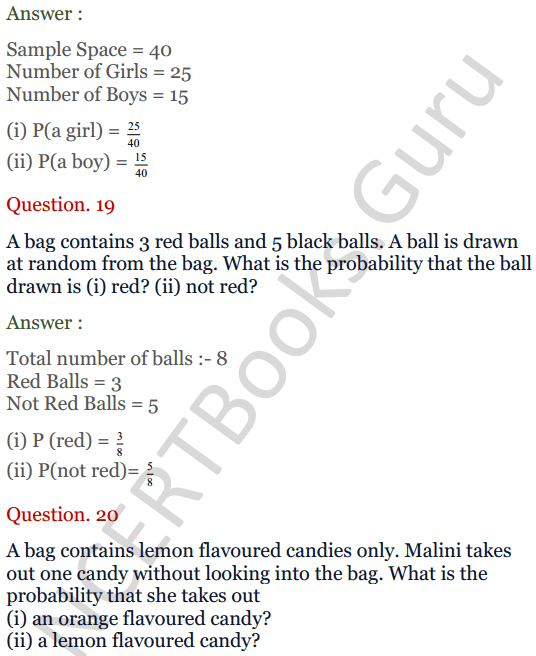 KC Sinha Maths Solutions Class 10 Chapter 15. Probability Ex.15 - 14