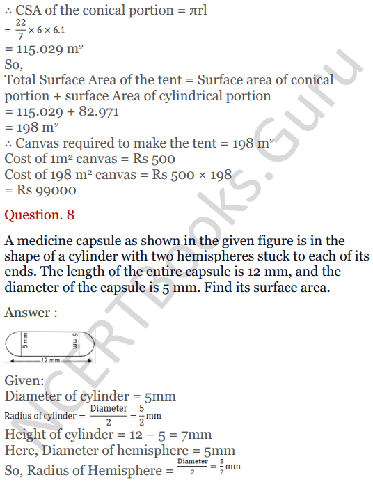 KC Sinha Maths Solutions Class 10 Chapter 14. Surface Areas and volumes - Ex 14.2 - 11