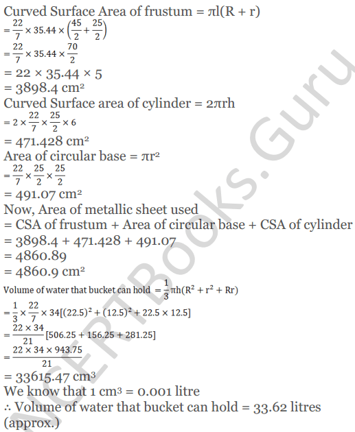 KC Sinha Maths Solutions Class 10 Chapter 14. Surface Areas and volumes - Ex 14.4 - 11