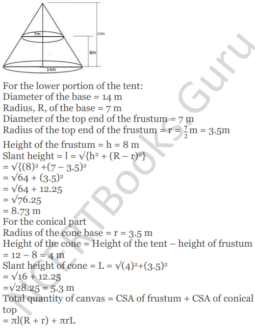 KC Sinha Maths Solutions Class 10 Chapter 14. Surface Areas and volumes - Ex 14.4 - 14