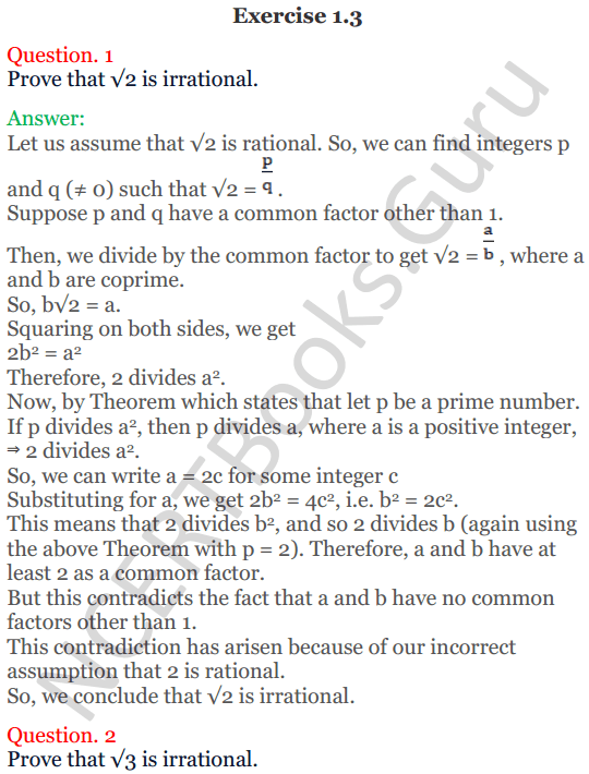 KC Sinha Maths Solutions Class 10 Chapter 1 Real Numbers Ex 1.3 - 1