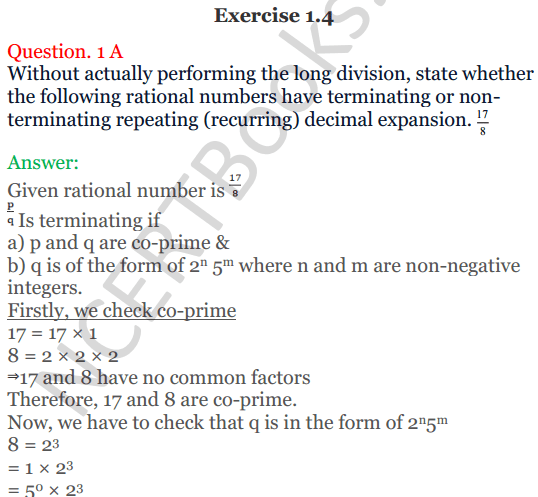 KC Sinha Maths Solutions Class 10 Chapter 1 Real Numbers Ex 1.4 - 1