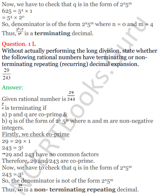 KC Sinha Maths Solutions Class 10 Chapter 1 Real Numbers Ex 1.4 - 9