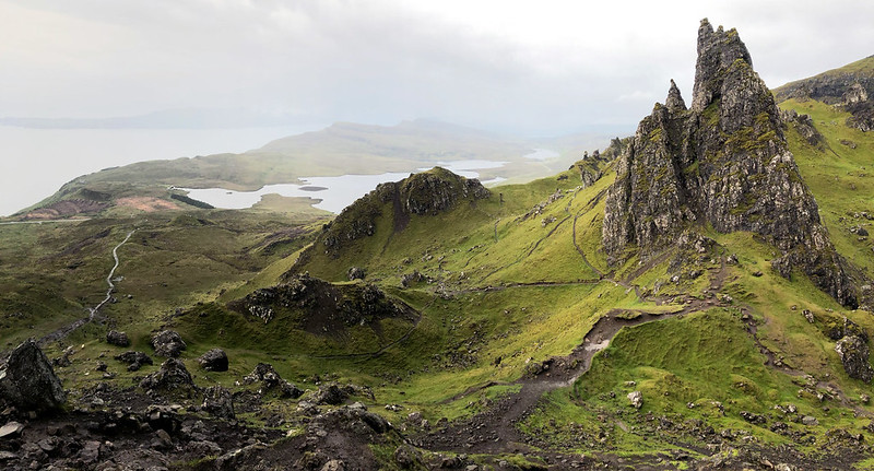Views over Skye from the Old Man of Storr