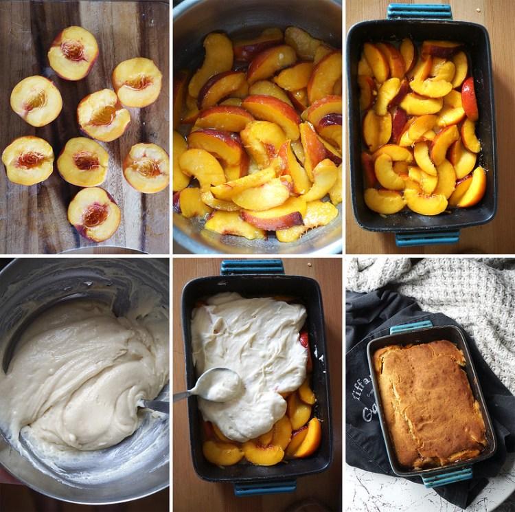 How to make a gluten free peach cobbler