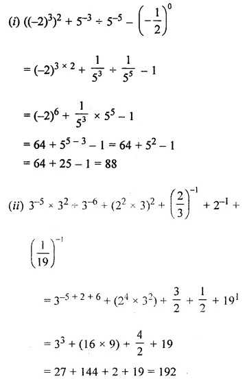 ML Aggarwal Class 8 Solutions for ICSE Maths Chapter 2 Exponents and Powers Ex 2.1 Q7.1