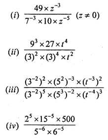 ML Aggarwal Class 8 Solutions for ICSE Maths Chapter 2 Exponents and Powers Ex 2.1 Q9