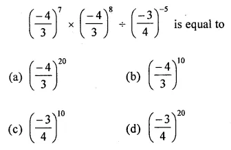 ICSE Mathematics Class 8 Solutions Chapter 2 Exponents and Powers Objective Type Questions Q7