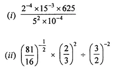 Maths Questions for Class 8 ICSE With Answers Chapter 2 Exponents and Powers Check Your Progress Q4