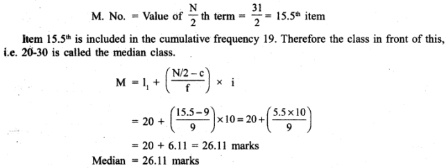 RBSE Solutions for Class 11 Economics Chapter 9 Median 12