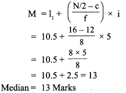 RBSE Solutions for Class 11 Economics Chapter 9 Median 15