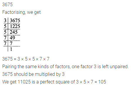 ML Aggarwal Maths for Class 8 Solutions Book Pdf Chapter 3 Squares and Square Roots Check Your Progress Q2