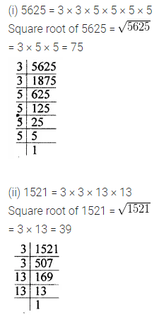 ML Aggarwal Class 8 Solutions Chapter 3 Squares and Square Roots Check Your Progress Q10