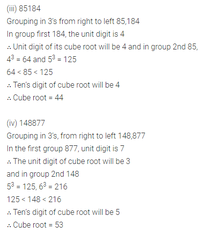 ML Aggarwal Class 8 Solutions for ICSE Maths Chapter 4 Cubes and Cube Roots Ex 4.2 Q2.1