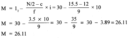 RBSE Solutions for Class 11 Economics Chapter 9 Median 40