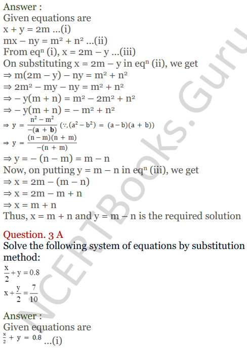KC Sinha Maths Solutions Class 10 Chapter 3 Pair of Linear Equations in Two Variables Ex 3.2 - 5
