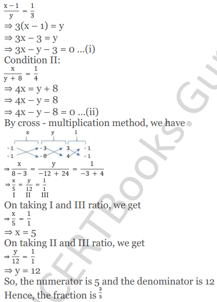 KC Sinha Maths Solutions Class 10 Chapter 3 Pair of Linear Equations in Two Variables Ex 3.4 - 28
