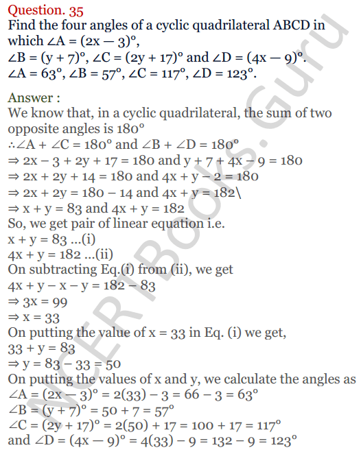 KC Sinha Maths Solutions Class 10 Chapter 3 Pair of Linear Equations in Two Variables Ex 3.5 - 34