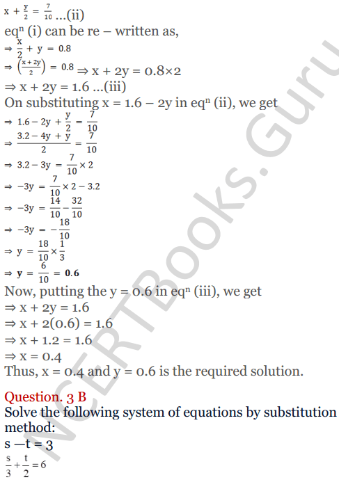 KC Sinha Maths Solutions Class 10 Chapter 3 Pair of Linear Equations in Two Variables Ex 3.2 - 6