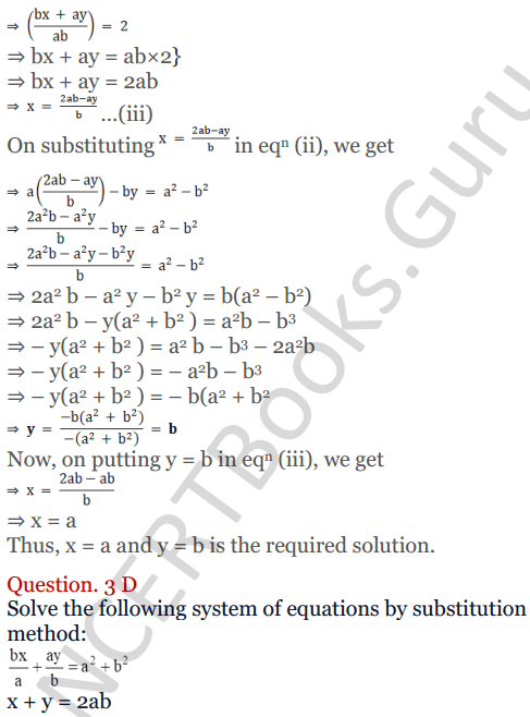 KC Sinha Maths Solutions Class 10 Chapter 3 Pair of Linear Equations in Two Variables Ex 3.2 - 8