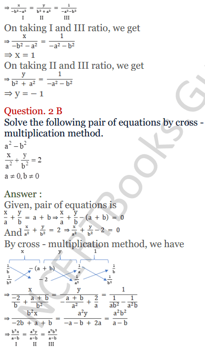 KC Sinha Maths Solutions Class 10 Chapter 3 Pair of Linear Equations in Two Variables Ex 3.4 - 7