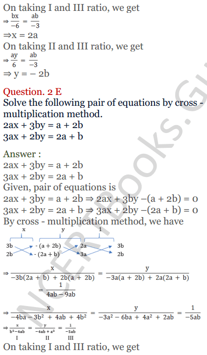 KC Sinha Maths Solutions Class 10 Chapter 3 Pair of Linear Equations in Two Variables Ex 3.4 - 10