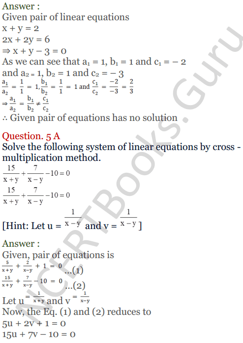 KC Sinha Maths Solutions Class 10 Chapter 3 Pair of Linear Equations in Two Variables Ex 3.4 - 18